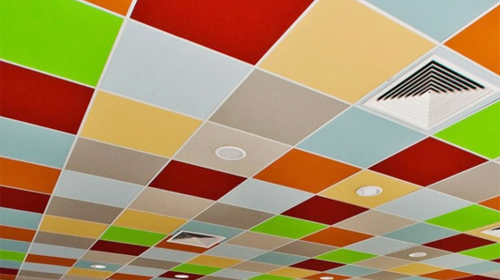 Branded Colour Ceiling Tiles Printing