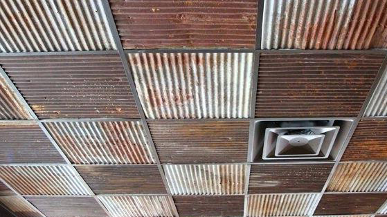 corrugated rust tiles printed